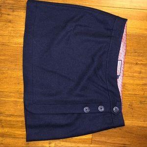 Vineyard Vines Navy Wool Wrap Skirt, Size 12